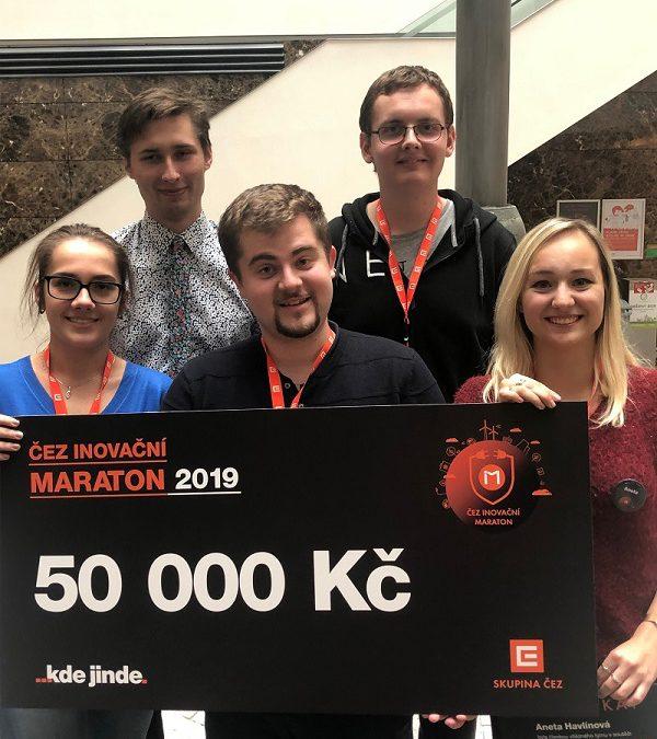 Studenti ČVUT ve vítězném týmu ČEZ Inovačního maratónu
